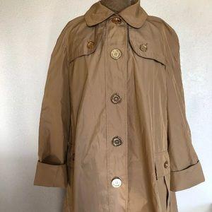 Burberry raincoat jacket tan rose gold 8 UK 10